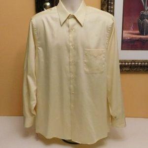 Geoffrey Beene Yellow Sateen Dress Shirt